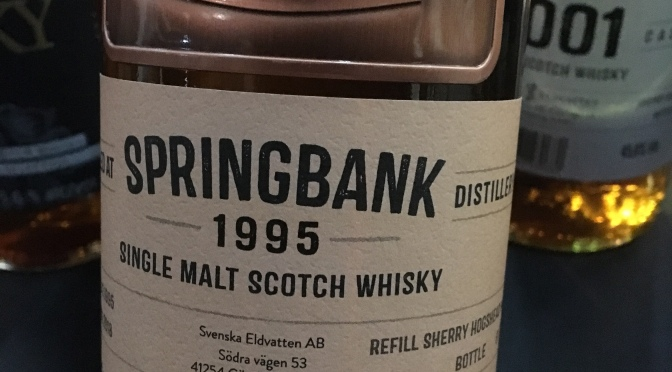 Svenska Eldvatten Springbank 1995 – 22 YO Refill Sherry Hogshead